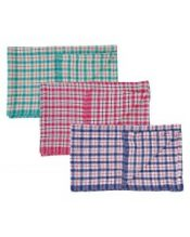 Coloured Check Tea Towel